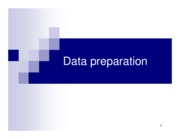 Chapter 11. Data preparation