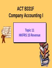 ACT B331F Topic 11 Revenue 2015.pptx