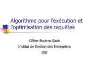 3-Execution et Optimisation
