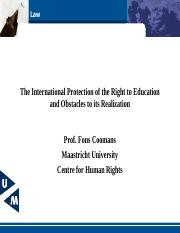 The International Protection of the Right to Education.ppt