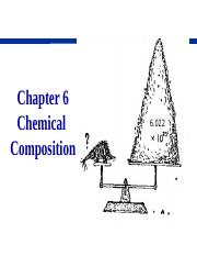 Ch6 Chemical Composition SP 15