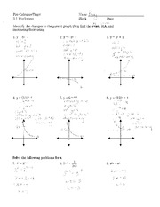 Exponential Functions and Their Graphs hmwk ans - Pre ...
