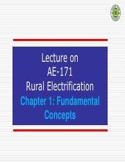 Chapter 1 - Fundamental Concepts of Rural electrification
