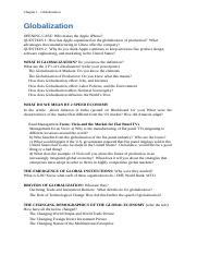 Study Guide_Chapter 1 - Globalization.docx