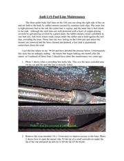Fuel Line Maintenance