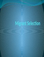 Migrant Selection.pptx
