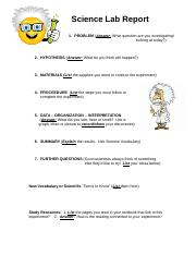 Science Lab Report Template.doc