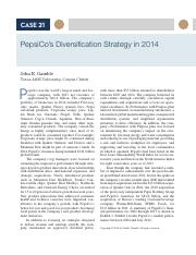 21 PepsiCo's Diversification Strategy in 2014.pdf