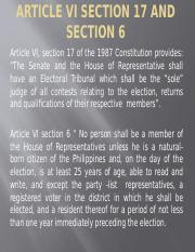 Article VI section 17 and section 6.pptx