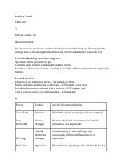 Asignement 1 personal trainer organization chart for personal 3 pages assignment 4 personal trainer ccuart Image collections
