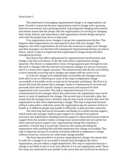 spea v management concepts and applications ii na  2 pages essay on the importance of managing organizational change
