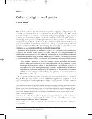 Gender culture and religion Int J Constitutional Law-2003-Raday-663-715.pdf