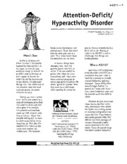 H21 - Attention-Deficit Hyperactivity Disorder