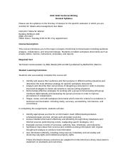 General Syllabus ENC 3240 Technical Writing1.doc