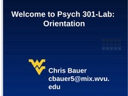 Welcome to Psych-301 Lab_Spring2014_CB2