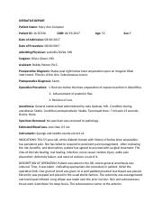 Gorndt_ Case 2 EXAM_ OPERATIVE REPORT.docx