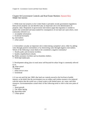 FIN 3351 Principles of Real Estate Ch. 4 Notes