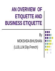 2fd71LESSON 5-AN OVERVIEW OF ETIQUETTE AND BUSINESS ETIQUETTE[introduction course].ppt
