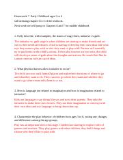 Homework 9  Early Childhood (2).docx