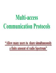 5. Multiple Access protocol- Channelization
