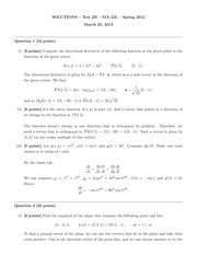 MA 225 Spring 2015 Test 2 Version B Solutions