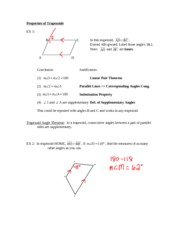 Properties of Trapezoids Notes