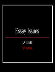 Essay Issues-La.ppt