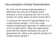 In class example-Determine enzyme activity
