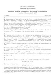 homework set 17-Solutions