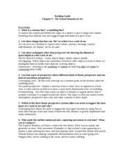 ART HISTORY 120 READING GUIDE CH 5
