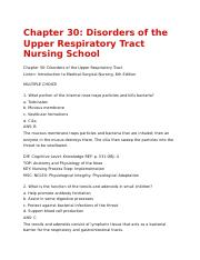 chapter 30 docx chapter 30 disorders of the upper respiratory rh coursehero com Microbiology Study Guide Science Study Guide