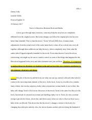 Tsotsi Essay Rough Draft - Jolly 1 Jimmy Jolly Jennifer Wolfe Honors ...