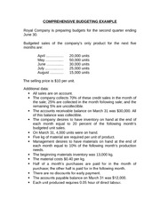 ACTG 1P12 MA Ch 9 - Master Budget Example 2 (Handout)