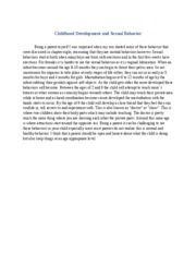 Psy265 sexuality at different life stages 2 essay