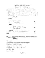 EEE 2405 ASSIGNMENT MARKING SCHEME