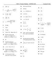 Exam Answer Key Covering Minumums and Maximums