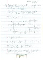 Chapter 1 section 2 Concept of Limits