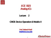 Lect2-CMOS Device Operation _ Models II