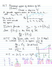 Ch.10 Numerical Approximation of solution notes