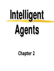 Intelligents Agents-Chapter2
