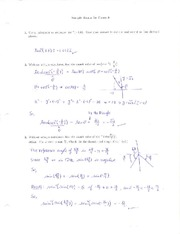 Solutions (Sample Exam 3)