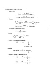 Organic Chemistry Prep of Alkyl Halides Handout
