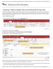 4 - Creating a Table in Design View and Setting the Primary Key