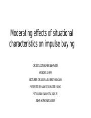 Moderating effects of situational