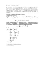 CHEM 544 Chapter 14 Noninteracting Particles Notes