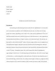 Globalization and the World Economy Final Paper.docx