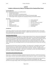 Lab #11 - Isolation of Bacteria, Micro 20.pdf