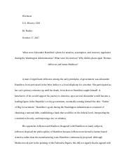hamilton vs jefferson   chanel calt mrlipman period e hamilton vs   pages us history essay  jefferson vs hamilton docx
