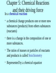 Chapter 5 Chemical Reactions and their driving force a(1).ppt