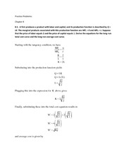 Practice Problems for Ch8 Ch9 Ch10